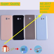 For Samsung Galaxy A5 2017 A520 A520F SM-A520F Housing Battery Cover Back Cover Case Rear Door Chassis A5 2017 Shell Replacement защитная плёнка для samsung galaxy a5 2017 sm a520f на весь экран tpu прозрачная luxcase