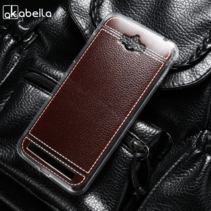 AKABEILA Silicone Phone Cover Case For <font><b>ASUS</b></font> Zenfone MAX <font><b>ASUS</b></font>_Z010DD Z010D ZC550KL <font><b>Z010DA</b></font> 5.5 inch Case Soft TPU Lichee Cover image