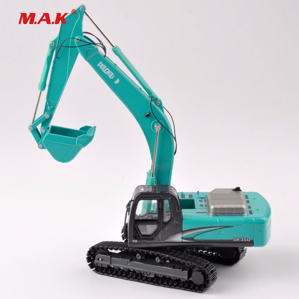 Collection Diecast 1/50 Scale SK-350 Light Blue Diecast Excavator Truck Car Vehicles Diecast Model collection diecast 1 50 scale m318f wheeled diecast excavator truck car vehicles diecast model