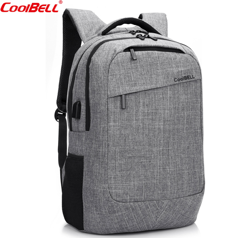 CoolBeLL Large Capacity Fashion Backpack With USB Charging Port 17.3 Inch Waterproof Computer Backpack Men Women Travel Bag