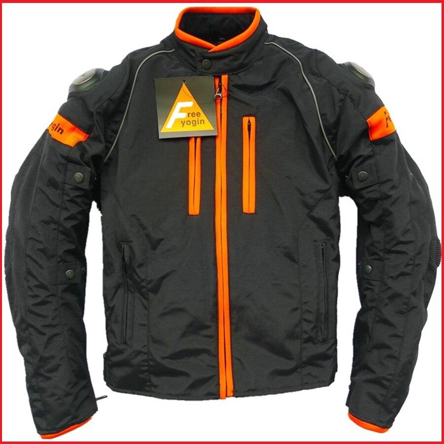Бесплатная доставка 1 шт. Осень Зима мужчины на воздухе доказательство мотоцикл езда костюм защитный куртка с 5шт колодки