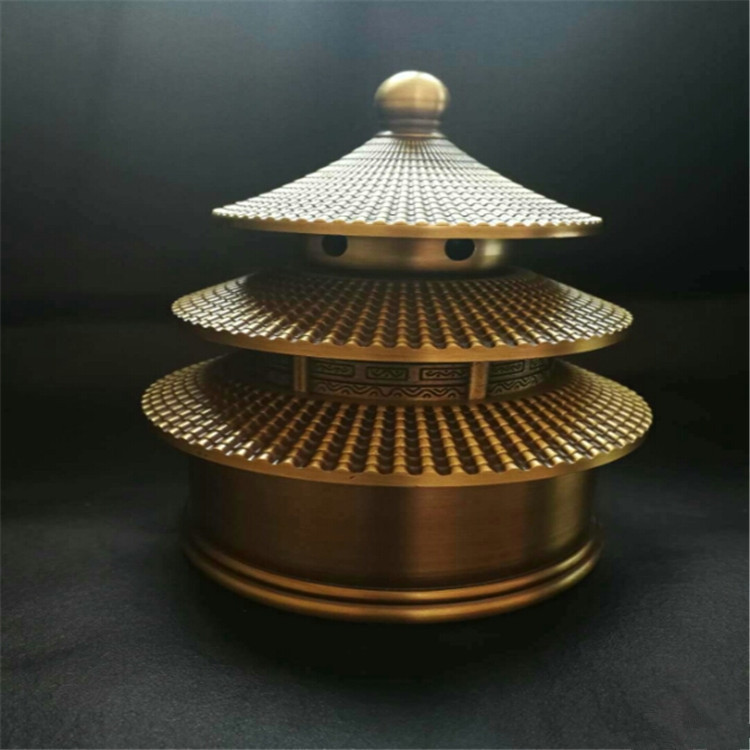 antique brass copper round bottom tower aroma stove of the temple of heaven  furniture furnishing articlesantique brass copper round bottom tower aroma stove of the temple of heaven  furniture furnishing articles