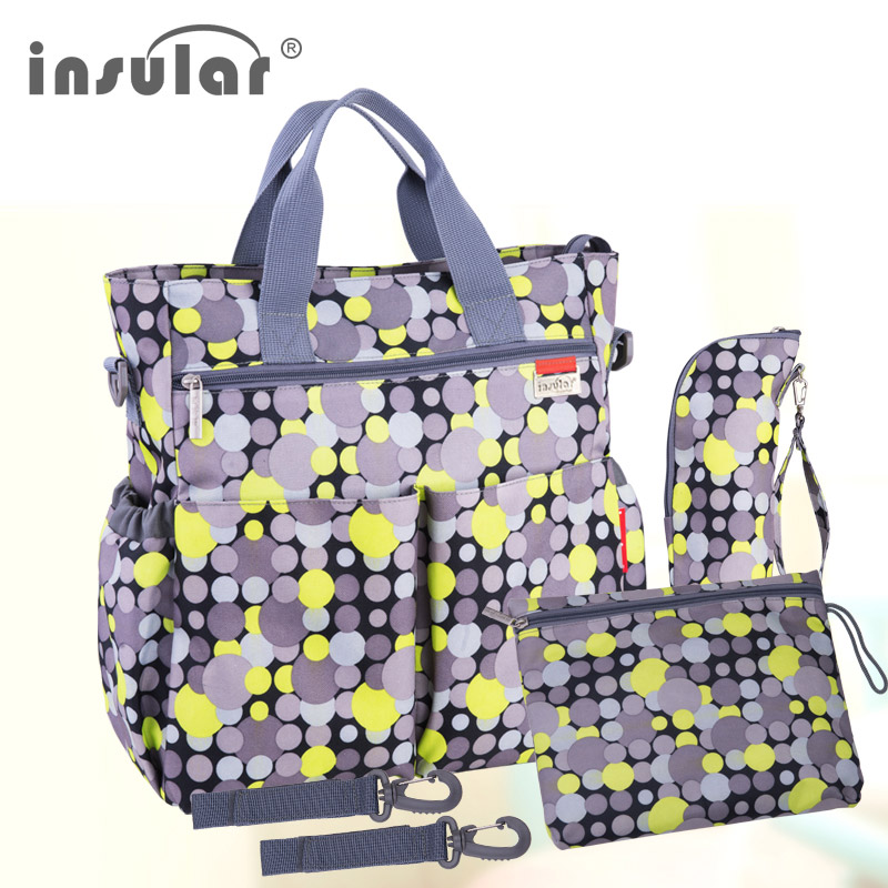 Insular Colorful Baby Diaper Bag Nappy Stroller Bags Waterproof Mummy Changing Bag Multifunctional Mommy Tote Bags