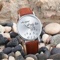 Nueva Moda Comentario Gracioso Mujeres Hombres Ya Quién Le Importa Im Tarde Impreso Relojes de Pulsera Envío Gratis