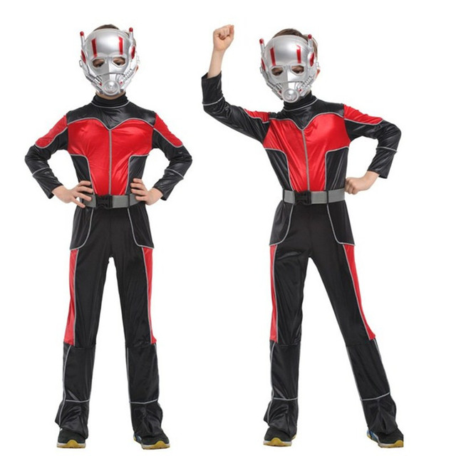 c39662c93925 M-XL Disfraces Halloween Carnival Ant-Man Costume cosplay Movie Anime  Fantasia kids Children The Avengers Cosplay Boys costume