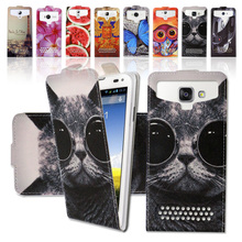 For HTC Desire 526G 526G+/Jinga A500 4G Cartoon Ultrathin PU Leather Case Up and Down Best Universal Flip case cover ,Gift SX3