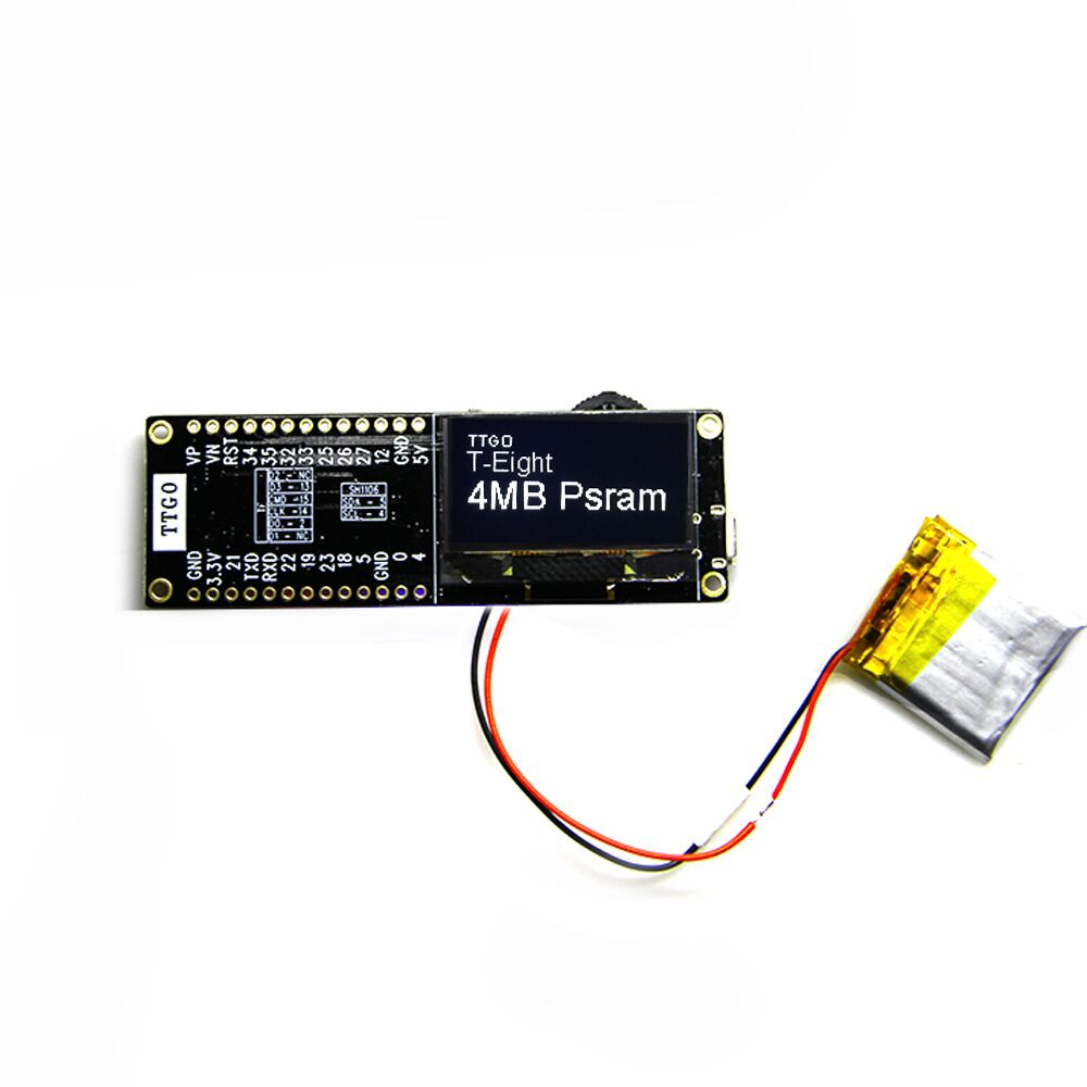 Wemos® TTGO T-Eight ESP32 SH1106 1 3 Inch OLED Display IPEX 3D Antenna 4MB  SPI Flash Psram Packet Monitor ESP32-WROVER Micropython