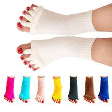 1Pair Massage Five Toe Socks Fingers Separator For Toes Foot