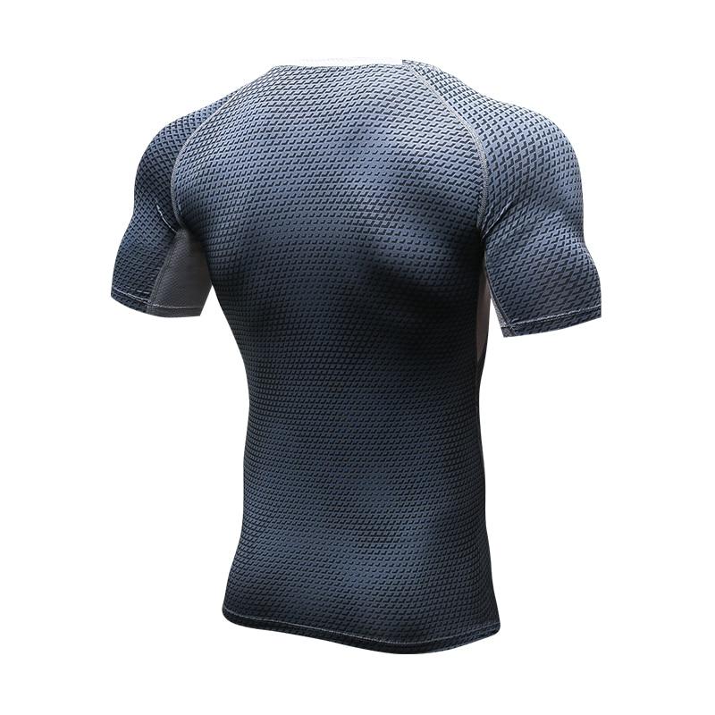 Lovmove Running Shirt Compression Quick Dry Breathable Gym Shirt Elstic Sweat Sport Shirt Fitness Men Clothing Rashgard Male 4