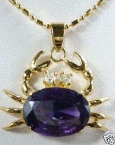 Красивый фиолетовый циркон Краб Подвески Цепочки и ожерелья