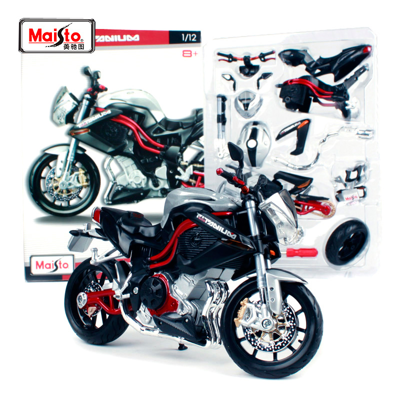 Maisto 1:12 Benelli TNT Titanium Assembly DIY MOTORCYCLE BIKE Model Kit FREE SHIPPING 39179