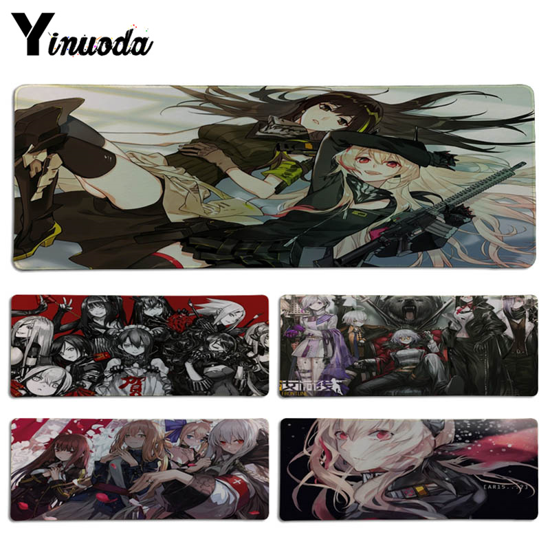 Yinuoda 2018 New Girls Frontline DIY Design Pattern Game Lockedge mousepad Size for 300*700*2mm and 300*900*2mm Game Mousepad