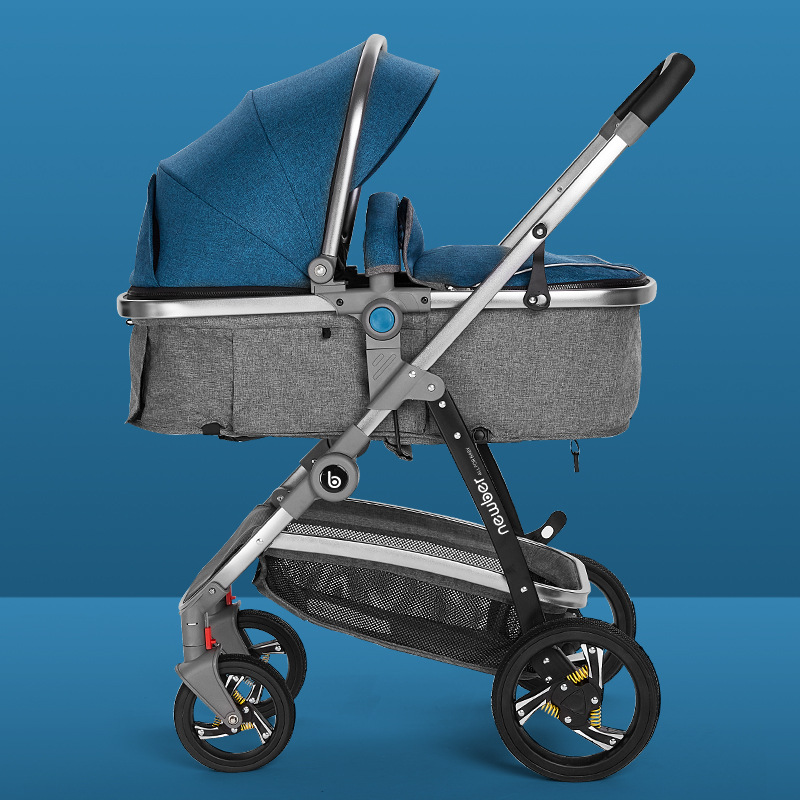 High landscape baby stroller  2 in 1stroller can sit and fold light Carriage summer newborn baby stroller