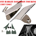 Reflective Chrome Saddle Shield Air Heat Deflector Fit Harley Touring 1997-2007
