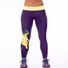 2016 High Waist High Elastic 3D Print Skull Beauty Casual Leggins Women Sporting Leggings Fitness Gymnastics Runs Jogger Pants