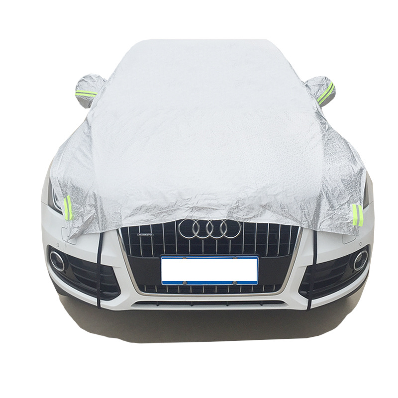 SUV Size XXL Half Car Cover UV Protection Waterproof Outdoor Indoor Shield For Audi a3 a4 a6 a6l b6 b7 b8 c5 c6 q5 Car Covers areyourshop car window front door switch panel cover trim stickers for audi a4 b6 b7 2002 2007 car styling car covers detector