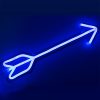 CHIBUY LED Neon Sign light Neon light sign Home Decor Wall Neon Decoration Holiday Decoration Blue bow arrow