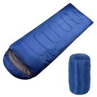Adult Single Camping Waterproof Suit Case Envelope Sleeping Bag Navy Blue