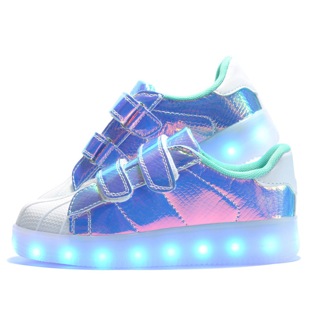 2016 más nuevos niños puntera de luz led usb recargable shoes niños entretenimiento casual shoes boys and girls shoes luminoso