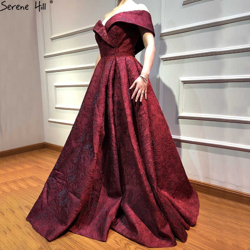e12a570d3c ... 2019 Newest Designer Long Red Gowns Off Shoulder Sexy Fashion Formal  Evening Gowns Serene Hill LA6484 ...