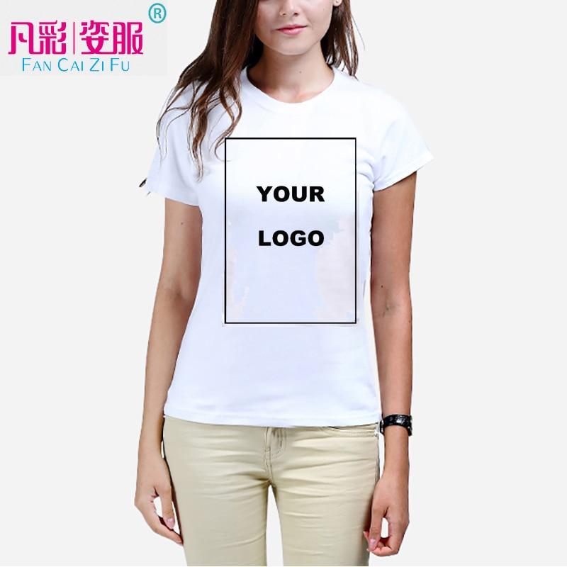 Customized women 39 s t shirt print your own design high for Design your own logo for t shirts