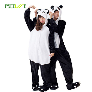Unisex Flannel Animal pajamas Warm Winter Onesies For Adults Pajamas Cosplay Panda Onesies Sleep Lounge Cute Sleepwear Pajamas