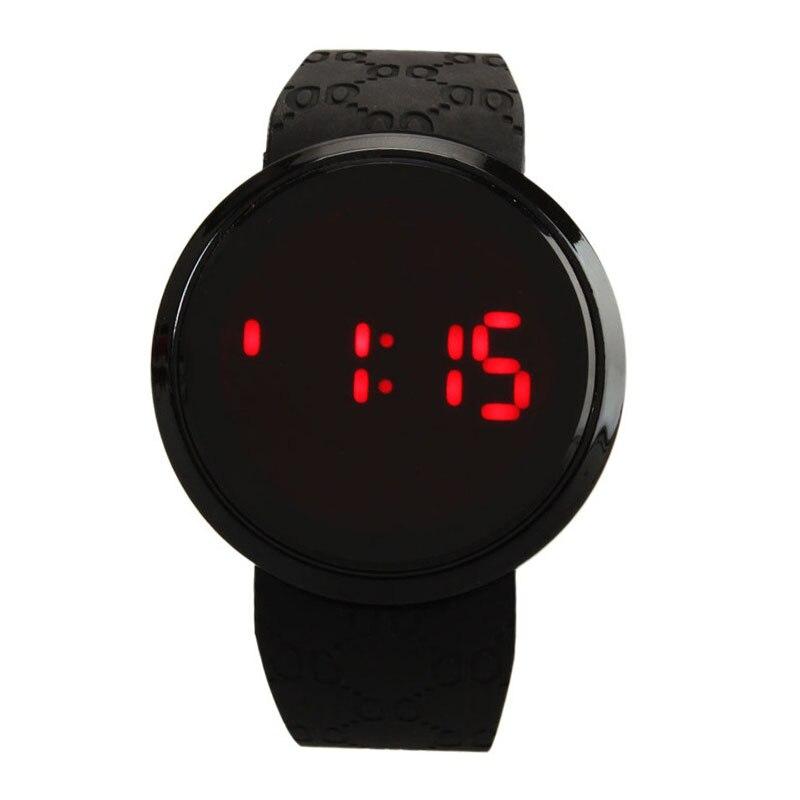 78da1a33677 2018 LED Touch Screen Relógios das Mulheres do Esporte Dos Homens de  Borracha de Silicone Digital de relogio masculino Pulseira de relógio de  Pulso À Prova ...