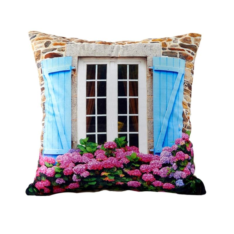 3D Design Flower Window Pillows