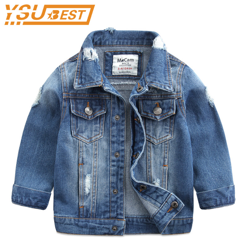 fc59e26f3 2019 Spring Baby Boys Girl Jeans Coats Clothes Kids Denim Jackets ...