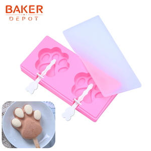 Бейкер депо силиконовая форма для мороженого кошачья лапа дизайн замороженный Лед Куб лоток