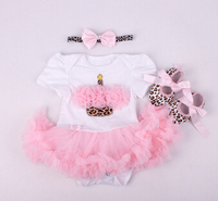 Dolls Clothes Wear Fit For 50 57cm Silicone Reborn Baby Doll Romper Dress Shoes Headband Clothes