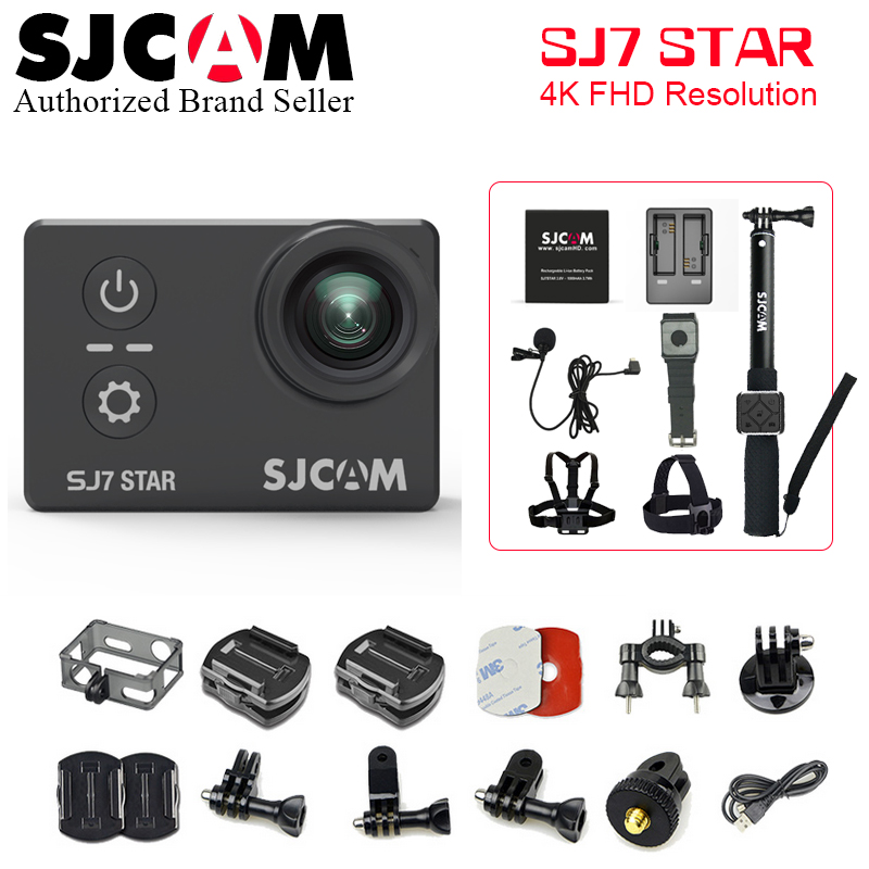 "SJCAM SJ7 STAR Action camera SJ7 Ultra HD WiFi 2.0"" 170D underwater waterproof Helmet Cam Mini DVR camera Sport cam"