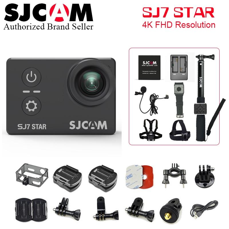 "SJCAM SJ7 STAR Action camera SJ7 Ultra HD WiFi 2.0"" 170D underwater waterproof Helmet Cam Mini DVR camera Sport cam"