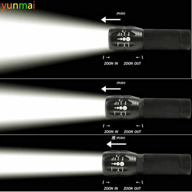 Linterna LED, linterna de led, linterna de 2000 lúmenes con zoom, mini linterna, linterna con luz LED para bicicleta
