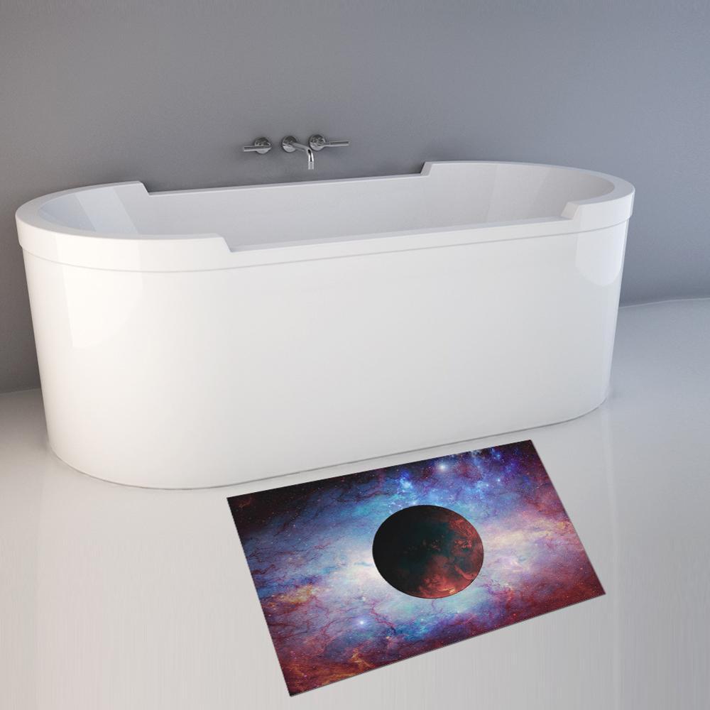 Bath Mat Bathroom Home Floor Door Rug Shower Carpet Nonslip Universe Starry Sky