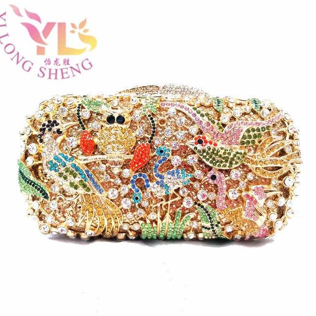 Rhinestone Evening Bridal Purse Whole Price Gorgeous Animal Design Crystal Minaures Bags Clutch Bag