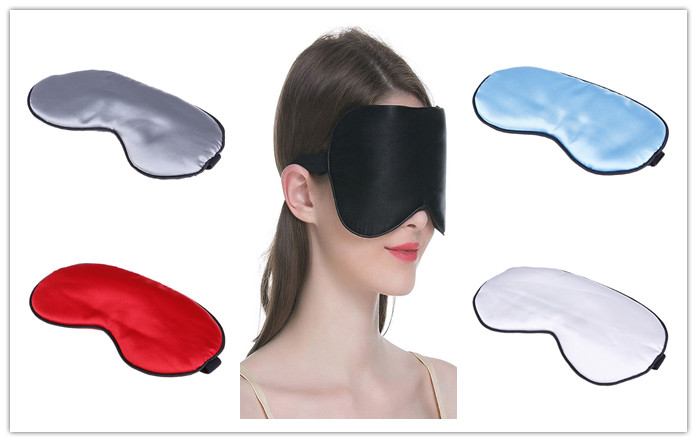 Natural Sleeping Eye Mask Eyeshade Cover Shade Eye Patch Soft Charmeuse Silk Travel Eyepatch Sleep Mask Women Men