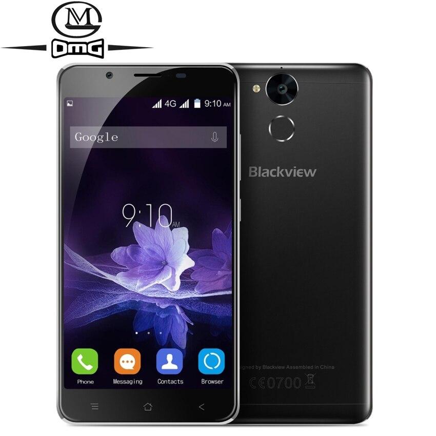 Original Blackview P2 Lite Smartphone 6000mAH Android 7 0 MT6753 Octa Core Mobile Phone 3GB RAM