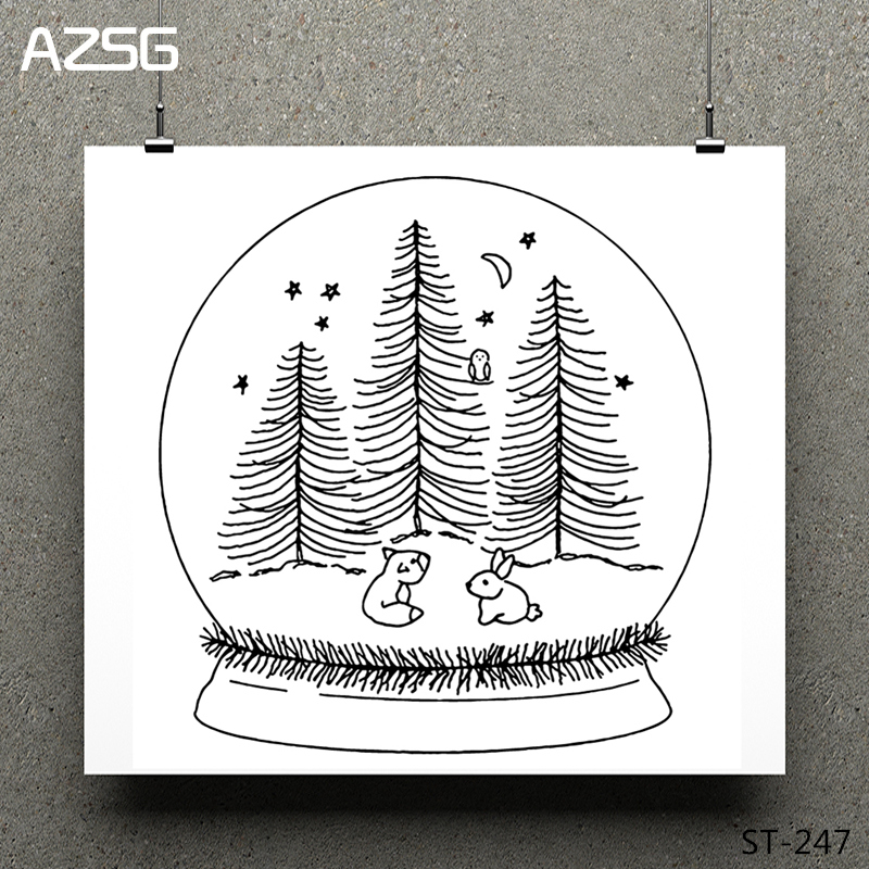 AZSG Magic ball Clear stamps/Seals scrapbooking photo album Decorative Card Making/Album Silicone Decoration crafts