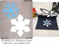 A snowflake flower wood moulds die cut accessories wooden die Regola Acciaio Die Misura my