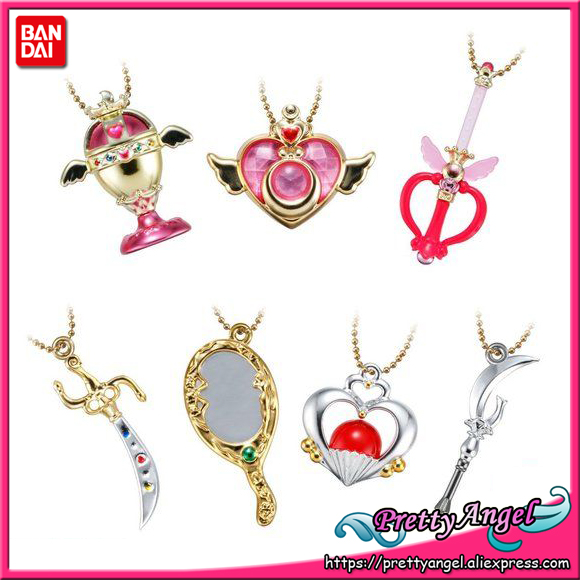 PrettyAngel   Genuine Bandai 25th Anniversary Shokug Little Charm Sailor Moon Vol.3 Compact Cutie Rod Set of 7 PCS-in Action & Toy Figures from Toys & Hobbies    1
