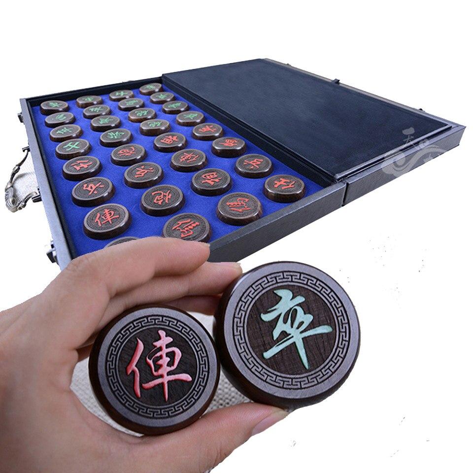 BSTFAMLY chinois échecs bois de rose pli 32 pièces/ensemble vieux jeu de Go Xiang Qi International dames pliant jouet cadeaux pas magnétique C11