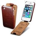 Флип Дело Чехол Для iPhone 4 4S PU Кожаный Чехол Телефон мешок Coque Для Apple iPhone 4S Case Роскошь Бизнес Стиль TOMKAS