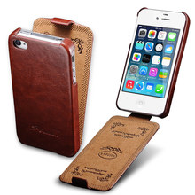 Flip Cover Case For iPhone 4 4S PU Leather Cover Phone Bag Coque For Apple iPhone 4S Case Luxury Business Style TOMKAS
