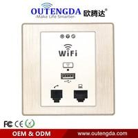 OUTENGDA WPL6058 Desenho Ouro Painel Interior 86 Soquete de Parede com Wi-fi inWall AP Sem Fio Ponto de Acesso