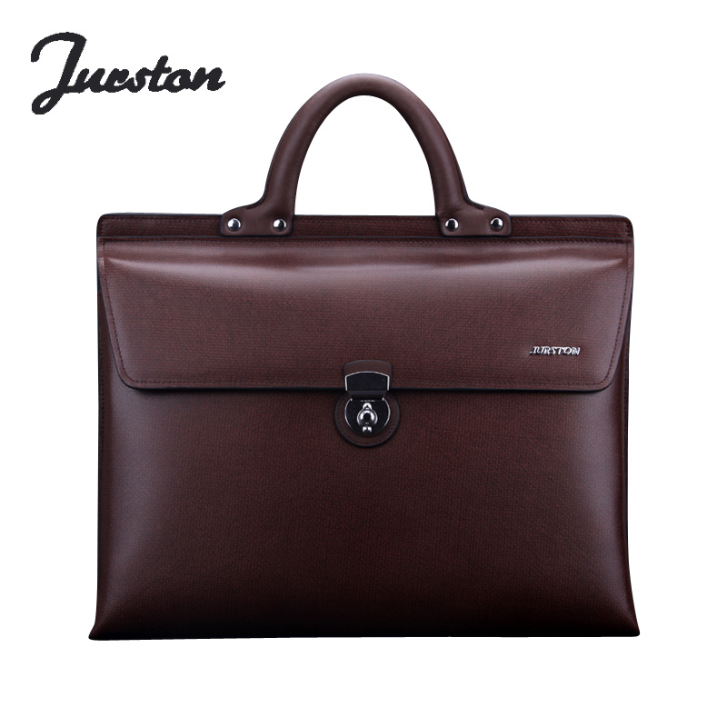 Wire man bag male commercial horizontal genuine leather cowhide male briefcase laptop bag handbag