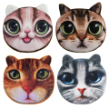 2016 Promotion Oval Zipper Coin Wallets 3D Animal Printing Children Money Bag Women Plush Coin Purses