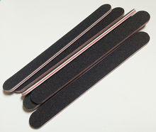 5pcs/set black sandpaper with RED heart  nail file 180/240 Professional Art Nail File  Grit For Manicure Natural Nails