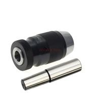 Drill chuck with straight shank 16mm arbor C16 B10 B12 B16 B18 C12 Automatic Locking Chuck Self Tighten FOR Drilling Machine