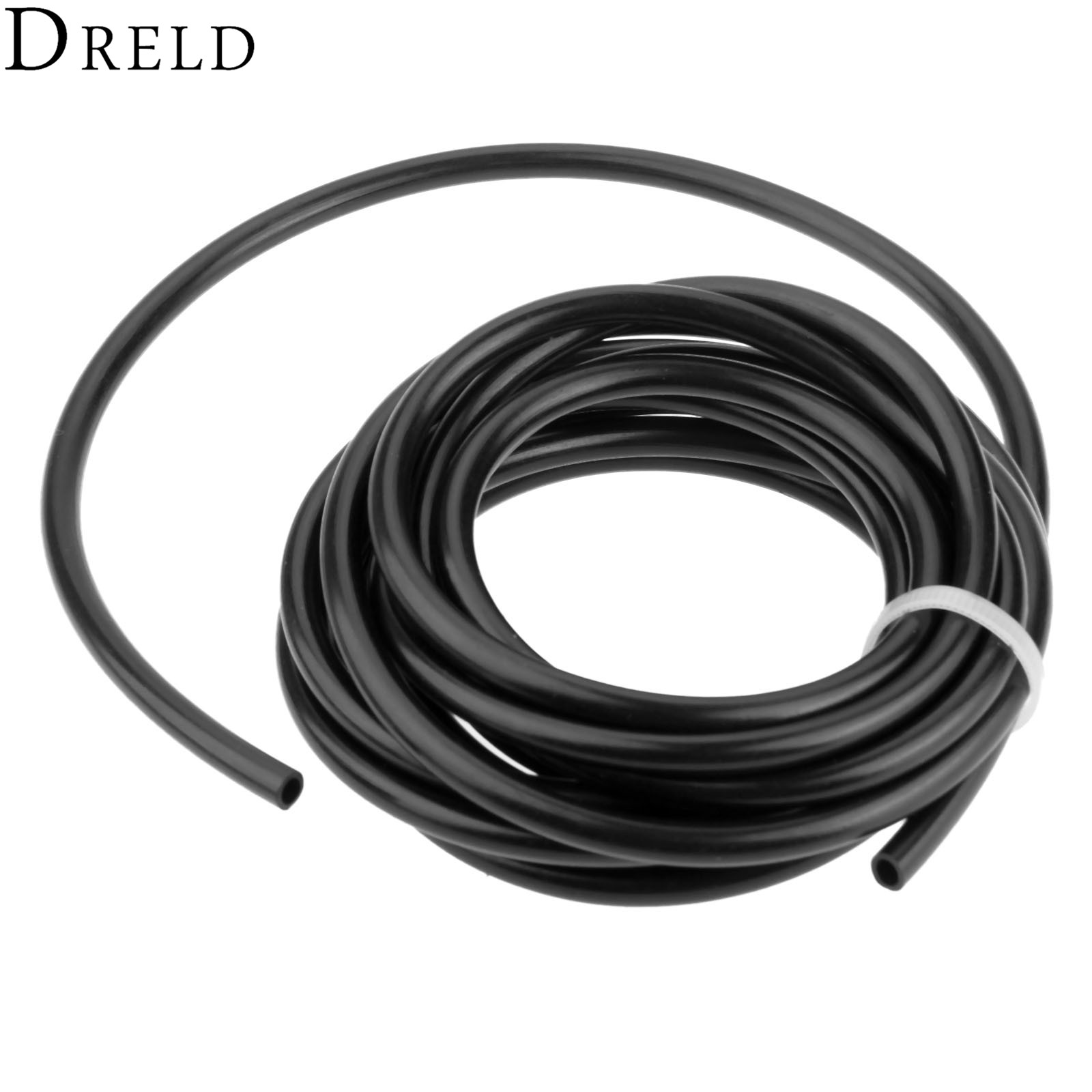 DRELD Chainsaw Fule Oil Tank Chain Saw Spare Parts Black Oil Pipe Inner Dia 3.5mm 3 Meter Garden Power Tools